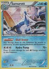 39/113 - Pokemon Legendarios Tesoros Samurott Holo tarjeta