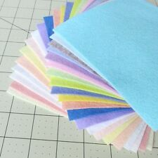"21 - 6""X6""  Spring Colors Collection - Merino Wool blend Felt Sheets"