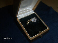 DAMEN  DIAMANTRING  0,75 Ct. GELBGOLD 585 punz.