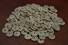 600 PCS CIRCLE SPIN BROWN BUFFALO BONE BEADING BEADS 10MM #T-1143