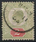 GB KEVII 1902-13, 2d Green And Red Used #D8548