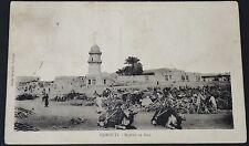 CPA CARTE POSTALE 1920 COLONIE FRANCE DJBOUTI Marché AU BOIS AFRIQUE