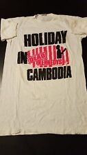 Vintage 80s 1980 Dead Kennedys Holiday In Cambodia T-Shirt LP Rock Punk Concert