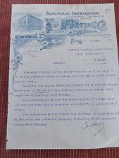 facture ancienne imprimerie 1911 FORTIN PARIS 75    ( ref 27 )