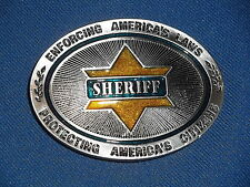 SHERIFF BELT BUCKLE MADE IN USA HEAVY DUTY