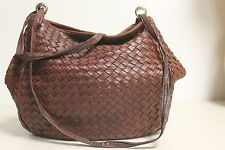 Authentic Bottega brown weave leather bag