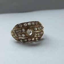 Antique mine cut diamond victorian 18ct gold ring