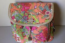 Sak SakRoots Artist Circle Apricot Flower Power Convertible Backpack Purse $69
