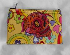 NEW HAND MADE FAIR TRADE HIPPY ETHNIC BOHO COTTON CANDY SKULL PURSE MOROCCO