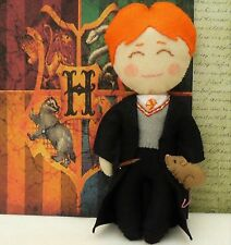Ron Weasley Wizard from Harry Potter with Scabbers and Wand
