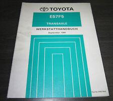 Werkstatthandbuch E57F5 Transaxle Getriebe Toyota Corolla AE104 CE104  09/1991