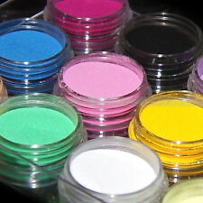 12x Pcs Colors acrylic Crystal Polyme Powder liquid Glitter Nail Art UV GEL set