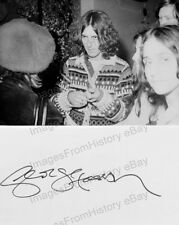 8x10 Print Beatles George Harrison Candid Signature is Printed #GH1