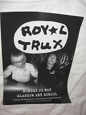 Royal Trux - Glasgow may 2017 tour concert gig poster