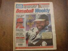 Baseball Weekly Newspaper Jun 28-Jul 4 1991 Dave Henderson EX No ML 022117nonjhe