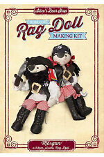 Rag Doll Kit - Morgan with Pirate Outfit and Free Parrot finger puppet kit