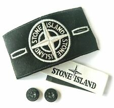 GENUINE STONE ISLAND BADGE PATCH, WHITE GLOW SPECIAL, BUTTONS, LABEL SALE !!
