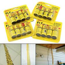 16 ROLLS INSECT BUG FLY GLUE PAPER CATCHER TRAP RIBBON TAPE STRIP STICKY YELLOW