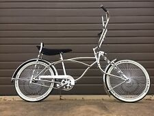 "LOWRIDER BICYCLE 20"" CHROME 144 SPOKE LOWRIDER BIKE"