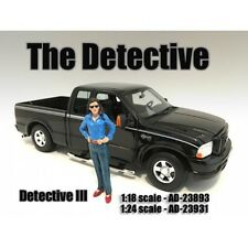 """""""THE DETECTIVE #3"""" FIGURE FOR 1:18 SCALE MODELS BY AMERICAN DIORAMA 23893"""