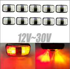 10X Red Amber Clearance Lights Side Marker LED Trailer Truck Car Warning Light