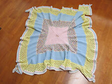VINTAGE HAND CROCHETED TABLE COVER/BLANKET SOFT