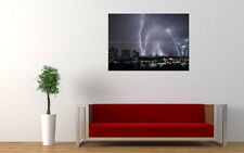 LIGHTNING CITY NEW GIANT LARGE ART PRINT POSTER PICTURE WALL