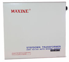MAXINE 1000w Voltage Converter 1 220 TO 110 Step Down 100% Copper Transformer