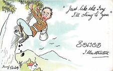POSTCARD  COMIC   Rock  Climbing   Related   Just like the Ivy...   Parlett