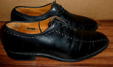 MENS ALLEN EDMONDS HASTINGS BLACK LEATHER OXFORDS SHOES SIZE 8.5 D