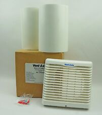 Vent Axia 140mm/150mm Adjustable Extractor Fan White Wall Fitting Kit 140902A