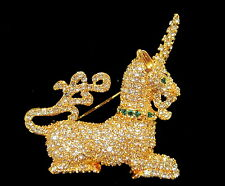MMA Metropolitan Museum of Art MEDIEVAL UNICORN Rhinestone Encrusted PIN - Ciner