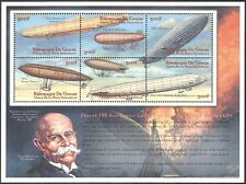 Guinea 2008 Zeppelin/Airships/Aircraft/Transport/History/People 6v m/s (n42780)