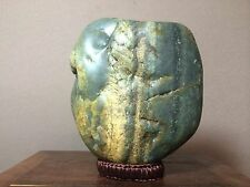 Natural polished Viewing stone suiseki/Hetian Qinghua Jade Nephrite 8.4 lbs