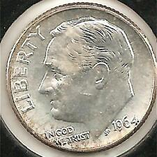 1964-D Choice About Uncirculated Roosevelt Dime #1