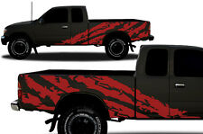Vinyl Graphics Decal Wrap Kit fits 1995-04 Toyota Tacoma Extended Cab Shred RED