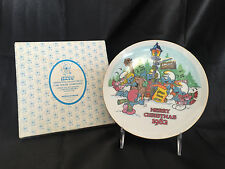 NEW - 1982 Smurfs Plate Carolers Merry Christmas Collector Vintage