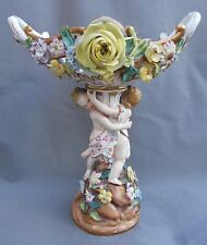 John Bevington Figural Center Piece British Bone China Dresden Style Cherubs