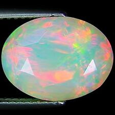 4.23 Ct Natural Ethiopian Faceted Opal Gemstone Multi Color Oval Cut