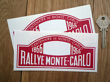 Rallye MONTE CARLO 1866-1966 CENTENARY Car Stickers 150mm Pair Rally Plate Red