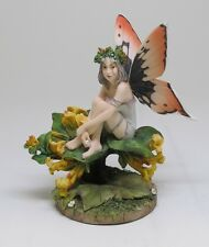 LINDA RAVENSCROFT HONEYSUCKLE FLOWER FAIRY FIGURINE STATUE.BEAUTIFUL DETAILS