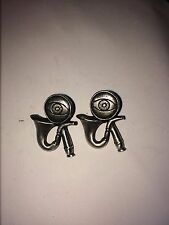 PIPE AND EYEGLASS DR32  Pair of  Cufflinks Made From English Modern  Pewter