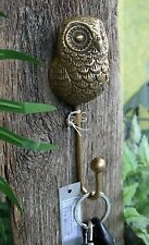 ANTHROPOLOGIE BRASS HOOK OWL –NWT- YOU'LL SCREECH ABOUT HOW COOL THIS PIECE IS!