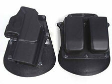 Tactical Paddel Holster Belt Magazine Pouch for Glock 17 19 22 23 31 32 34 35
