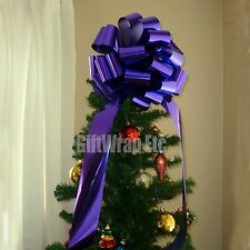 Big Metallic Purple Bow Large Gift Bike Car Toy Christmas Tree Party Decoration