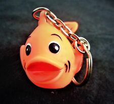 (2) Two Rubber Gold Fish Key Chains