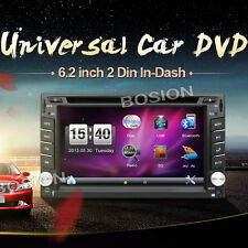 "6.2"" BLUETOOTH AUTORADIO 2 Din Doppel DVD USB MP3 TOUCH SCREEN GPS Navigation"