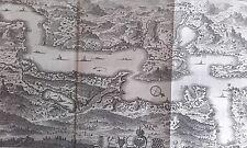 Plan du lac des IV CANTON ALTDORFF LUCERNE GRAVURE DELICE de la SUISSE XVIIIéme