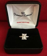 DIAMOND ESSENCE EMERALD CUT STONE & BAGUETTES 4.25 CTS.T.W. SIZE 5