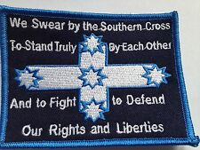 We swear by the Southern Cross Eureka Flag embroidered cloth patch.  D010901